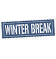 winter break sign or stamp vector image