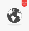 World globe icon Flat design gray color symbol vector image vector image
