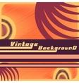 Vintage backgound template vector image