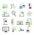 Chemistry Lab Flat Icon Set vector image