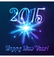 Year 2015 symbol with shining cosmic snowflake vector image