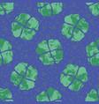 4 leaf clover seamless pattern trendy boho vector image