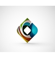 Abstract geometric company logo square rhomb vector image