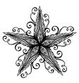 Abstract Sea Starfish vector image vector image