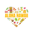 aloha hawaii travel banner template with vector image vector image