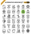 alternative medicine concept icons vector image