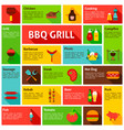 bbq infographics design vector image vector image