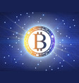 bitcoin symbol abstract technology background vector image vector image