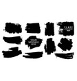 black paint ink brush stroke brush line vector image vector image