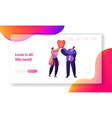 boy and girl launch sky lantern in the park vector image