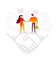 business agreement - modern flat design style vector image