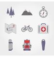 Camping Set icon vector image vector image