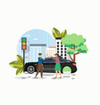 car accident on road flat vector image