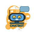 chatbot icon concept support robot technology vector image vector image