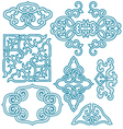 chinese scroll ornament vector image