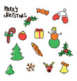 christmas new year seamless pattern vector image vector image
