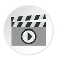 Clapboard icon flat style vector image