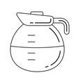 coffee pot line icon vector image vector image