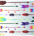 colored arrows background vector image vector image