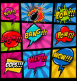 comic page mockup with color background pop art vector image vector image