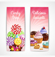 confectionery vertical banners set vector image vector image