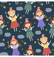 Cute fairies seamless pattern vector image