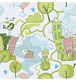 Cute Landscape Pattern vector image vector image