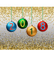 fashion christmas background with shining gold vector image
