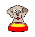 feeding cute dog design vector image