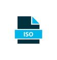 file iso icon colored symbol premium quality vector image