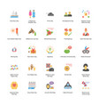 flat icons set of holidays vector image vector image