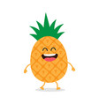 funny pineapple comic characters vector image