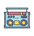 grated radio object technology to listen music vector image vector image
