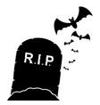 gravestone with bats black vector image vector image