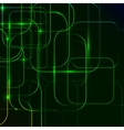 green Abstract background of digital technologies vector image