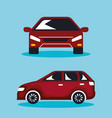 group of cars sedan icons vector image vector image