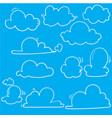 hand drawn clouds icon cloud symbol or logo vector image vector image