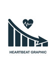 heartbeat decrease graphic icon mobile app vector image