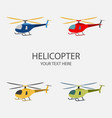helicopter set isolated on vector image vector image