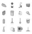 Household elements icons set vector image