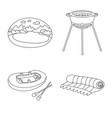 isolated object summer and travel icon set of vector image