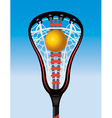 Lacrosse Stick and Ball vector image vector image