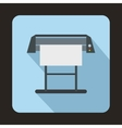 Large format inkjet printer icon flat style vector image vector image