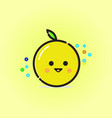 lemon smile vector image