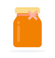 liquid honey in a jar flat isolated vector image vector image