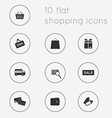 Modern flat icons collection of shopping theme vector image vector image