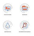 online work working inspiration information vector image vector image