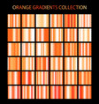 orange color gradients collection bright patterns vector image vector image