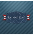 Patriot Day Text on Emblem with Ribbon vector image vector image