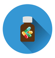 Pills bottle icon vector image vector image
